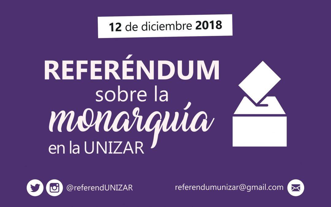 El 12 de diciembre #ReferendumUNIZAR sobre la monarquía