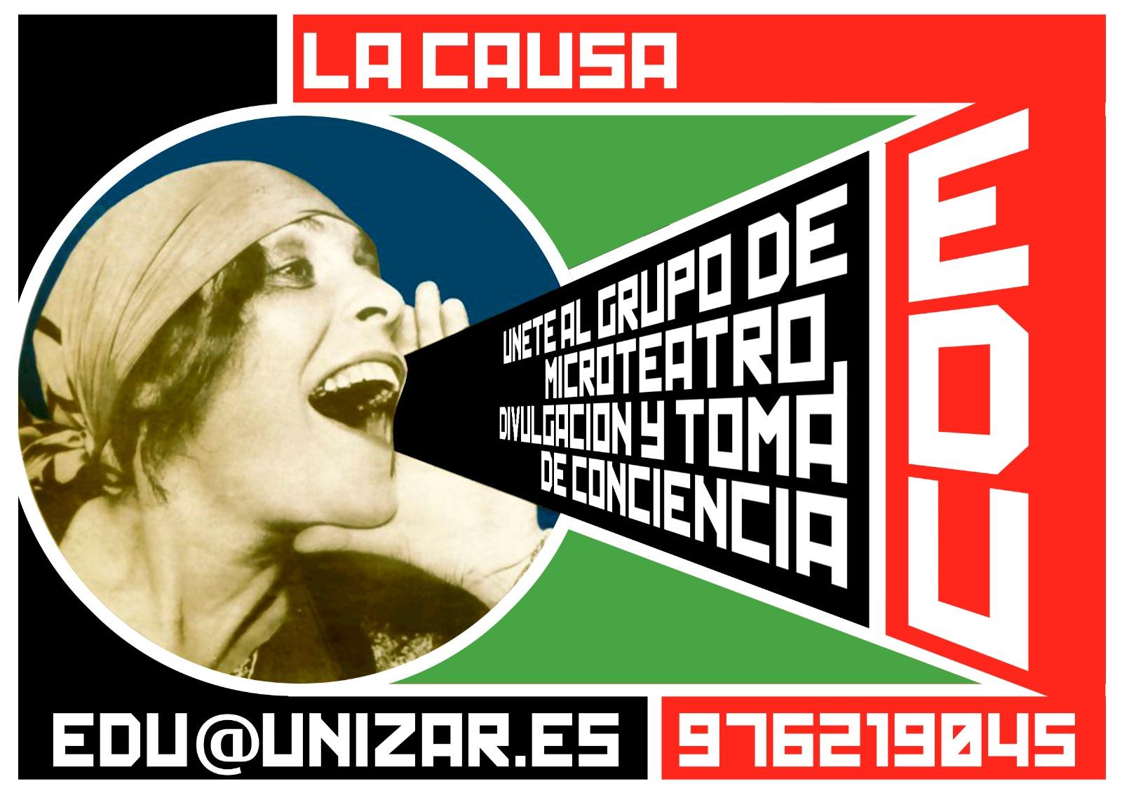 """ÚNETE A """"LA CAUSA"""", LA NUEVA COMPAÑÍA DE MICROTEATRO SOCIAL Y DIVULGATIVO"""